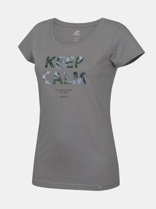 Šedé dámské tričko s potiskem Hannah Talimana