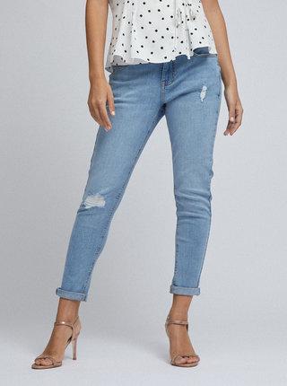 Modré zkrácené skinny fit džíny Dorothy Perkins Petite