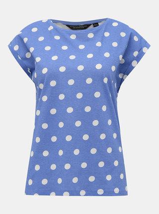 Modré puntíkované tričko Dorothy Perkins