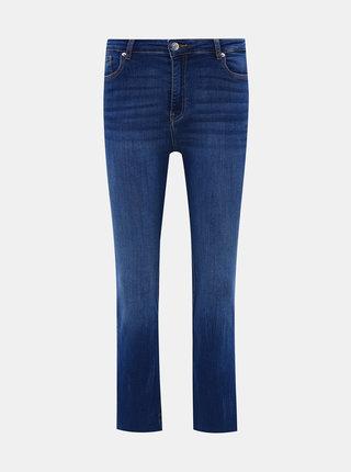 Tmavě modré zkrácené flared fit džíny TALLY WEiJL