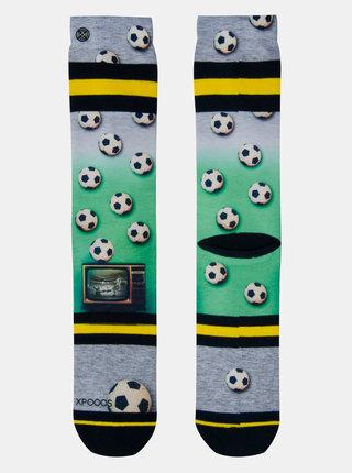 Zeleno-šedé pánske ponožky XPOOOS