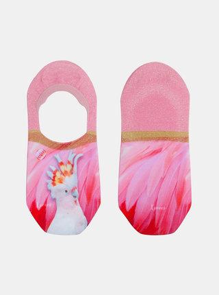 Ružové dámske nízke ponožky XPOOOS