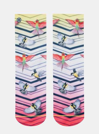 Ružovo-biele dámske ponožky XPOOOS