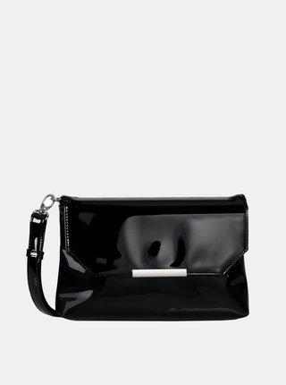 Čierna lesklá listová kabelka Tom Tailor Denim Kenza