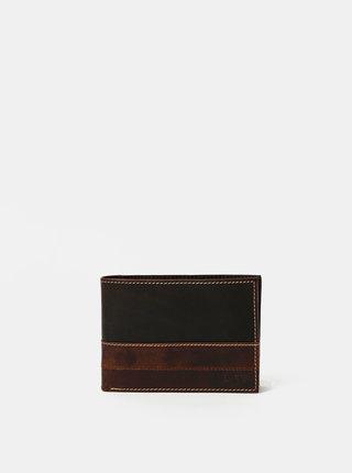Tmavě hnědá pánská kožená peněženka Dice Moore