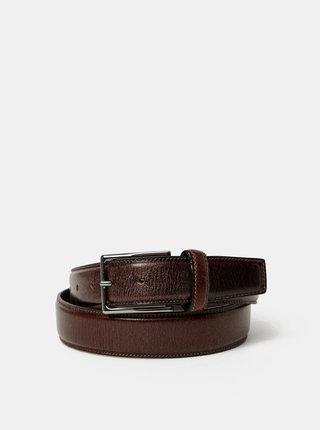 Tmavě hnědý pánský kožený pásek Dice Valona