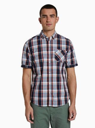 Modrá pánská kostkovaná košile Tom Tailor