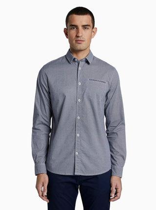 Tmavomodrá pánska košeľa s drobným vzorom Tom Tailor