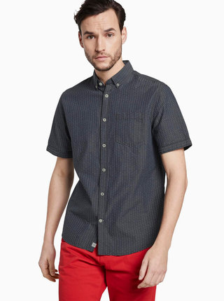 Šedá pánska košeľa s drobným vzorom Tom Tailor
