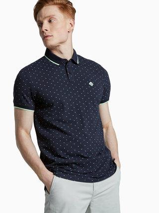 Tmavě modré pánské polo tričko Tom Tailor Denim