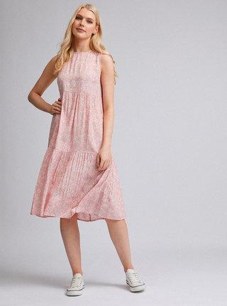 Růžové květované šaty Dorothy Perkins