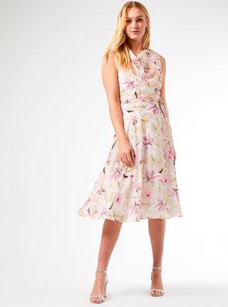 Krémové květované šaty Billie & Blossom