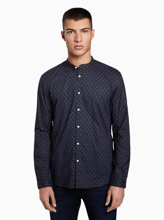 Tmavomodrá pánska košeľa s drobným vzorom Tom Tailor Denim