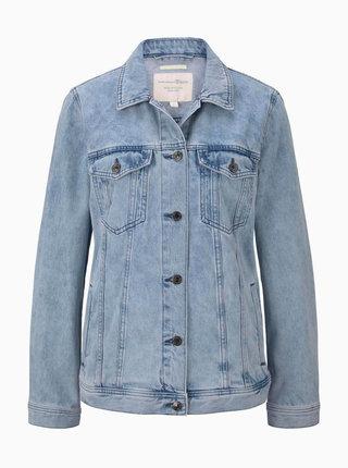 Světle modrá dámská džínová bunda Tom Tailor Denim