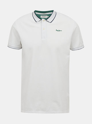 Bílé pánské polo tričko Pepe Jeans Lou