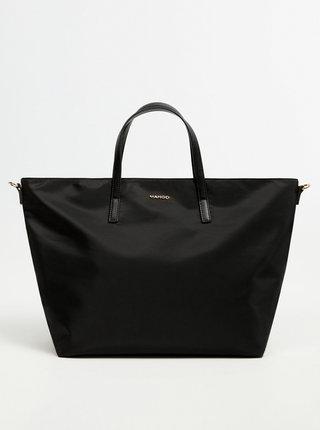 Černá velká kabelka Mango Suecia