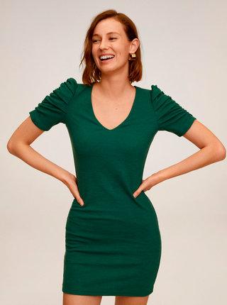 Zelené šaty Mango Frunce