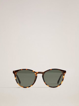 Hnědé vzorované sluneční brýle Mango Emma