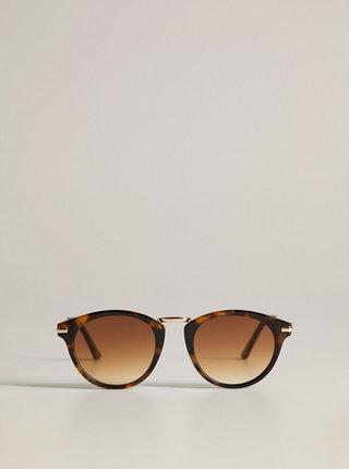 Hnědé vzorované sluneční brýle Mango Aqua