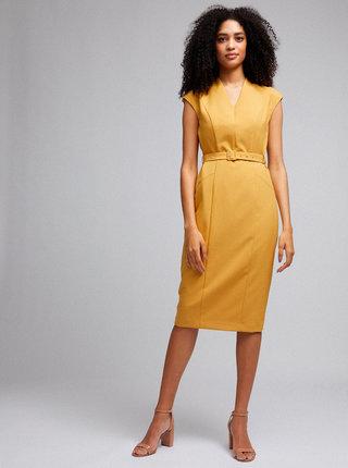 Žlté púzdrové šaty Dorothy Perkins