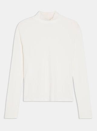 Bílé tričko se stojáčkem Miss Selfridge