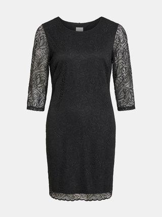Čierne krajkové šaty VILA