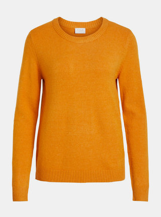 Oranžový basic sveter VILA