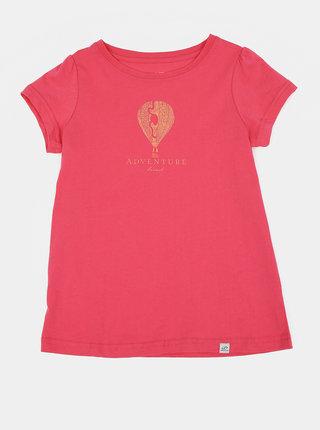 Růžové holčičí tričko s potiskem Hannah Poppy