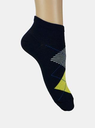 Sada dvou párů kotníkových ponožek v šedé a modré barvě Marie Claire