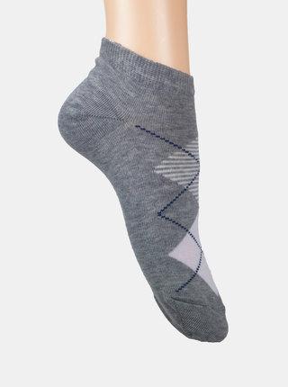 Sada dvou párů kotníkových ponožek v šedé a růžové barvě Marie Claire