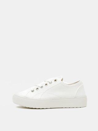 Biele dámske tenisky na platforme OJJU