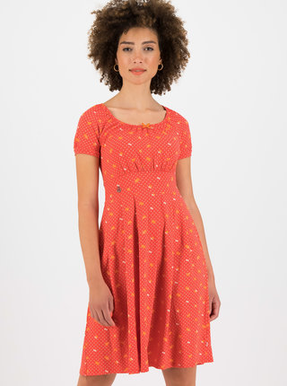 Červené vzorované šaty Blutsgeschwister