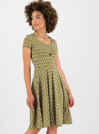 Žluté vzorované šaty Blutsgeschwister