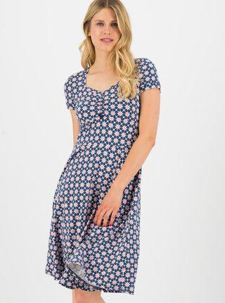 Modré vzorované šaty Blutsgeschwister