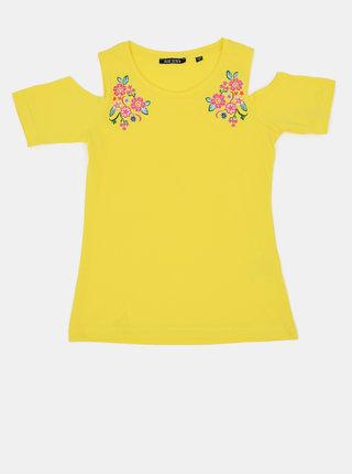 Žluté holčičí tričko Blue Seven