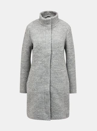 Svetlošedý vlnený kabát VILA Alanis