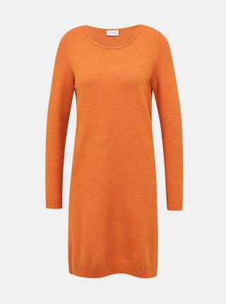 Oranžové svetrové šaty VILA
