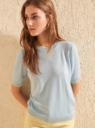 Světle modré svetrové tričko Trendyol