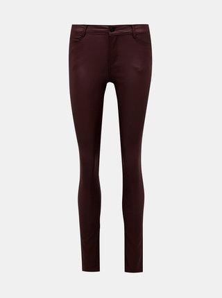 Vínové nohavice s povrchovou úpravou VILA