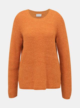 Oranžový sveter s prímesov vlny z alpaky VILA