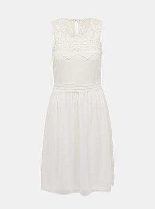 Bílé šaty s krajkou VERO MODA