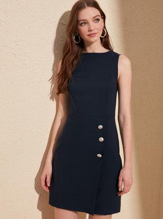 Čierne púzdrové šaty Trendyol