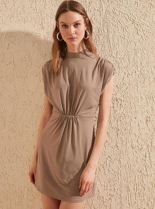 Hnědé šaty Trendyol