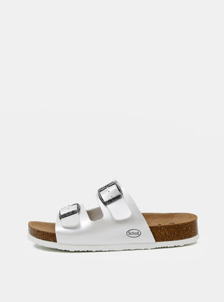 Bílé dámské pantofle Scholl Amelia