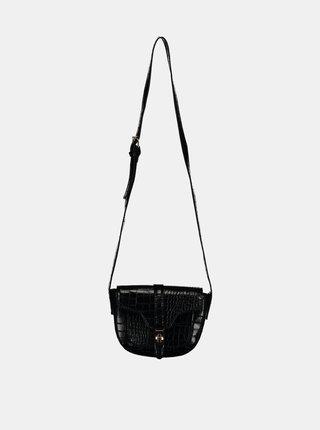 Černá crossbody kabelka s krokodýlím vzorem Haily´s Elisa