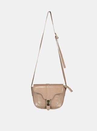 Béžová crossbody kabelka s krokodýlím vzorem Haily´s Elisa