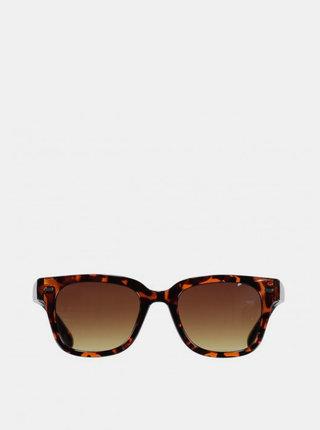 Hnedé dámske vzorované slnečné okuliare Haily´s Mina