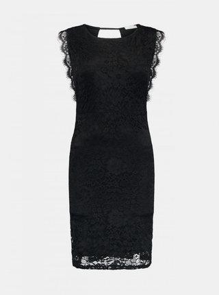 Čierne krajkované púzdrové šaty Haily´s Liv