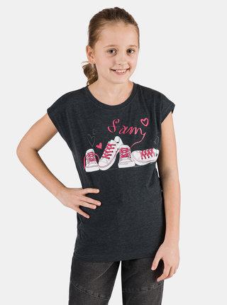 Černé holčičí tričko s potiskem SAM 73