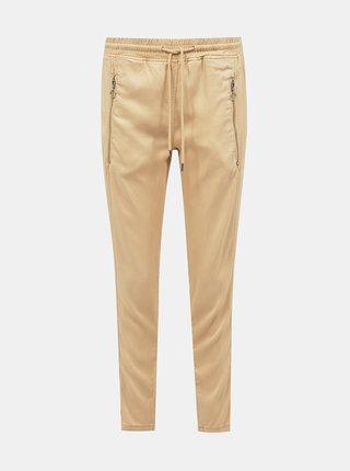Béžové dámské zkrácené kalhoty Tom Tailor